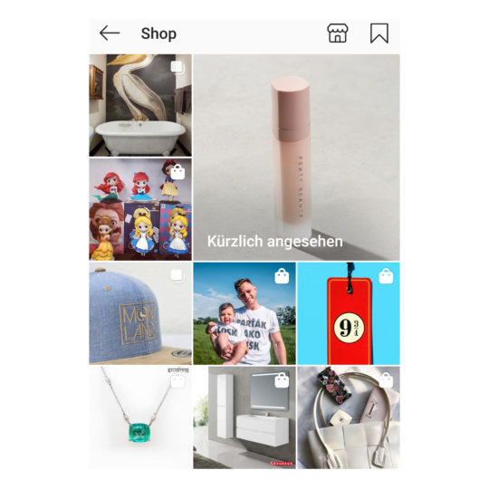 Instagram Shopping Tab
