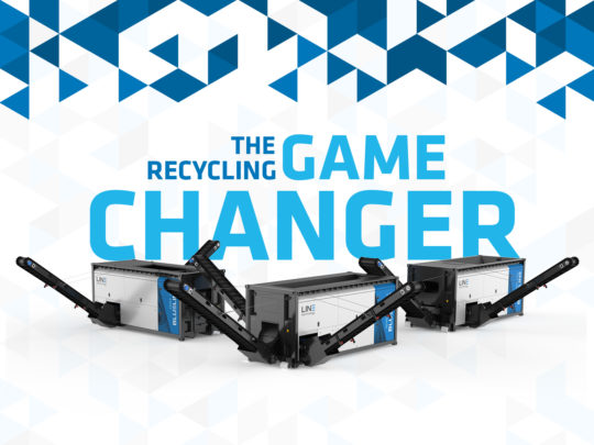 """""""The Recycling Game Changer"""" - Slogan der LINETECHNOLOGY GmbH"""