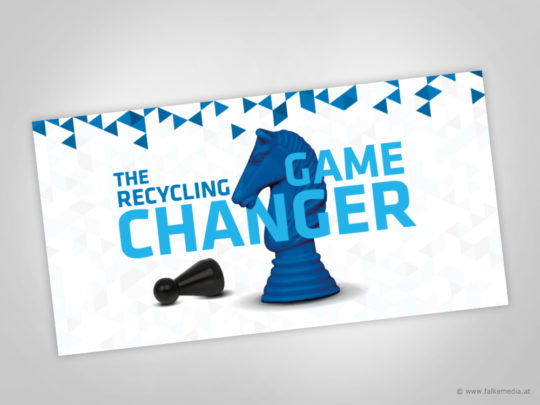 """Key Visual und Slogan """"The Recycling Game Changer"""""""