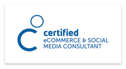 Logo certified eCommerce & social media consultant